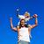 forte · criança · sessão · ombros · blue · sky · família - foto stock © wavebreak_media
