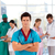 cofident doctor with his team in the background stock photo © wavebreak_media