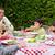 donna · famiglia · cena · alimentare · legno - foto d'archivio © wavebreak_media