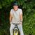 olgun · adam · dağ · bisikleti · dışında · gülümseme · dağ · bisiklet - stok fotoğraf © wavebreak_media