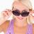 doamnă · ochelari · de · soare · studio · zâmbet · fericit - imagine de stoc © wavebreak_media