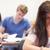 gut · aussehend · Studenten · Test · Klassenzimmer · Frau · glücklich - stock foto © wavebreak_media