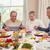 семьи · молиться · еды · Рождества · обеда · праздников - Сток-фото © wavebreak_media