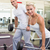 sporty young couple lifting barbells in gym stock photo © wavebreak_media