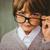 portre · erkek · gözlük · beyaz · çocuk · konuşma - stok fotoğraf © wavebreak_media