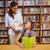 tanár · lány · olvas · könyv · könyvtár · női - stock fotó © wavebreak_media