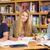 főiskola · diákok · házi · feladat · könyvtár · csoport · nő - stock fotó © wavebreak_media