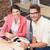 empresário · digital · comprimido · reunião · em · pé - foto stock © wavebreak_media