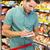 fiatalember · élelmiszer · vásárlás · áruház · étel · férfi - stock fotó © wavebreak_media