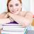 sorridere · studiare · libri · biblioteca · ragazza · libro - foto d'archivio © wavebreak_media