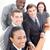 casual · pessoas · de · negócios · aperto · de · mãos · secretária · sorridente · escritório - foto stock © wavebreak_media