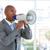 ambitny · biznesmen · megafon · biuro · człowiek - zdjęcia stock © wavebreak_media