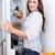 donna · ricerca · alimentare · frigorifero · confusi · open - foto d'archivio © wavebreak_media
