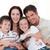 portré · boldog · család · néz · tv · kanapé · család - stock fotó © wavebreak_media