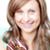улыбающаяся · женщина · еды · торт · белый · продовольствие · портрет - Сток-фото © wavebreak_media