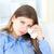 triste · mulher · olhando · câmera · retrato · cabeça - foto stock © wavebreak_media