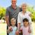nagyszülők · megnyugtató · kert · unokák · lány · férfi - stock fotó © wavebreak_media