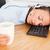 事務員 · 寝 · デスク · 遅い · 1泊 · 疲れ果てた - ストックフォト © wavebreak_media