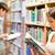 fiatal · felnőttek · tanul · könyvek · könyvtár · könyv · oktatás - stock fotó © wavebreak_media