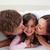 parents · baiser · fille · mère · père · souriant - photo stock © wavebreak_media