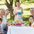 família · grande · refeição · jardim · família · crianças - foto stock © wavebreak_media