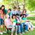 Öğrenciler · eğitim · oturma · çim · park · mutlu - stok fotoğraf © wavebreak_media