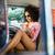 pretty hipster looking at map in camper van stock photo © wavebreak_media