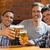 heureux · amis · bière · bar · alcool - photo stock © wavebreak_media