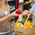 nő · vásárol · friss · zöldségek · mosolyog · fiatal · nő · vásárlás - stock fotó © wavebreak_media
