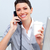 Cheerful business woman on phone stock photo © wavebreak_media