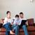 szülők · fiú · játszik · laptop · copy · space · otthon - stock fotó © wavebreak_media