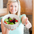 mulher · jovem · polegar · cozinha · legumes · comida - foto stock © wavebreak_media