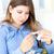 doente · mulher · jovem · termômetro · branco · mão · medicina - foto stock © wavebreak_media