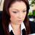 üzletasszony · dolgozik · asztal · iroda · nő · mosoly - stock fotó © wavebreak_media