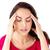 deprimido · hispânico · mulher · dor · de · cabeça · branco · medicina - foto stock © wavebreak_media