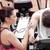 vrouwelijke · coach · man · fiets · fitness · centrum - stockfoto © wavebreak_media