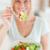 gülümseyen · kadın · teklif · salata · mutfak · mutlu · sağlık - stok fotoğraf © wavebreak_media
