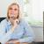denken · zakenvrouw · vergadering · bureau · kantoor · gezicht - stockfoto © wavebreak_media