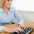 escribiendo · mujer · mirando · Screen · oficina · negocios - foto stock © wavebreak_media