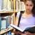 portre · ciddi · kadın · öğrenci · kitap - stok fotoğraf © wavebreak_media