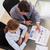 мнение · молодые · деловые · люди · говорить · статистика - Сток-фото © wavebreak_media