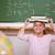 cute · schoolmeisje · boek · hoofd · klas - stockfoto © wavebreak_media