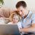 父から息子 · サーフィン · インターネット · ソファ · コンピュータ · 家族 - ストックフォト © wavebreak_media