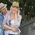 pár · kint · dől · korlát · mosolyog · nő - stock fotó © wavebreak_media