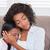 bastante · mãe · sessão · sofá · adormecido · filha - foto stock © wavebreak_media