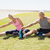 fit mature couple warming up on the grass stock photo © wavebreak_media