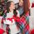 ünnepi · anya · lánygyermek · pléd · ajándékok · otthon - stock fotó © wavebreak_media