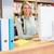 csinos · könyvtáros · dolgozik · könyvtár · egyetem · számítógép - stock fotó © wavebreak_media