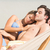 Happy couple napping together in the hammock stock photo © wavebreak_media