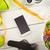 okostelefon · egészséges · életmód · fa · asztal · étel · üveg · egészség - stock fotó © wavebreak_media